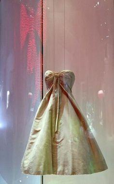 MISS DIOR EXHIBITION AT THE GRAND PALAIS Monte Carlo dress - Christian Dior, 1956 http://wp.me/p3KQGr-PD  #art, #ChristianDior, #exhibition, #fashion, #fragrance, #GrandPalais, #JoannaVasconselos, #KarenKilimnik, #LeeBul, #Mis Dior, #NikaZupang, #RafSimmons, #ShirinNeshat
