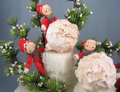 Snow Day - Vintage 1950s Pixie Forest Christmas Centerpiece