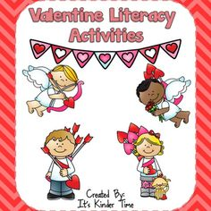 This Valentine Literacy Activities Packet is designed to meet Common Core Standards for Kindergarten while making learning fun, hands-on and interactive. Each page has the target standard listed at the bottom so you will always know what skill your kiddos are practicing.