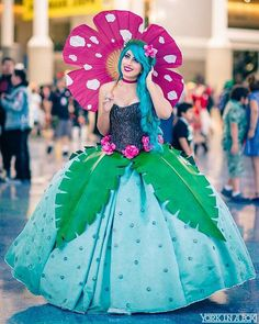 Venusaur Ball Gown Pokemon Gijinka Cosplay by RageCostumes