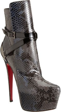 Christian Louboutin Python Equestria (I stare at these at least twice a week! Ankle Boots, Bootie Boots, Christian Louboutin Outlet, Christian Shoes, Python, Talons Sexy, Sexy Boots, Hot Shoes, Me Too Shoes