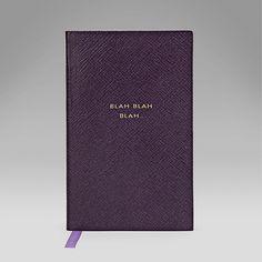 Blah, Blah, Blah' Panama Notebook - Books and Diaries - Smythson