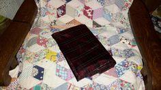Fabric Classic Tartan Plaid Lame Gold Thread by AntiquesandVaria