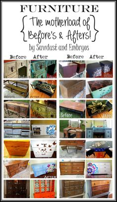 Some fabulous ideas for refinishing old stuff...