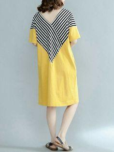 Casa Moda Premium Cotton Button Down Collar SS Stripe Shirt dans size XXL to 5xl