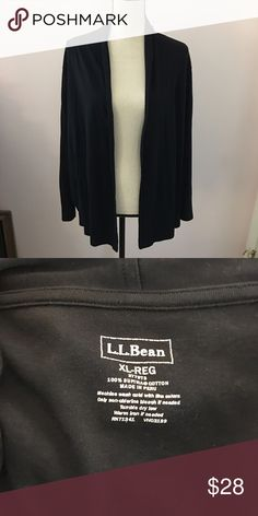 LL Bean open cardigan Great condition, lightweight cotton open cardigan L.L. Bean Sweaters Cardigans