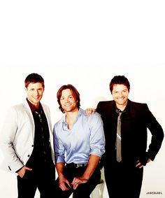 Jensen Ackles, Jared Padalecki, Misha Collins.