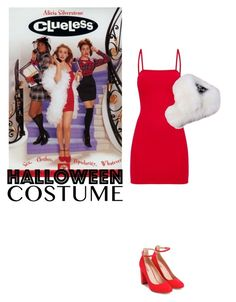 """""""Halloween Costume"""" by orrinn ❤ liked on Polyvore featuring JustFab"""