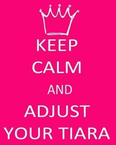 Keep up your head princess your tiara is falling