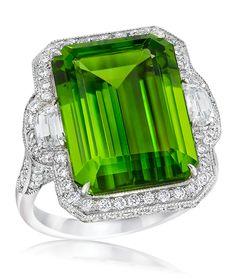 Cellini Jewelers ~ Emerald Cut Peridot ring