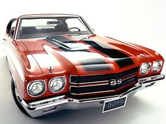 1970 Chevrolet Chevelle coupe SS / Super Sport 454 cid V8 450 horsepower (LS6 option)