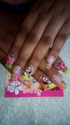 Spring Nails, Summer Nails, Fancy Nails, Flower Nails, Lip Art, Toe Nails, Hair And Nails, Nail Colors, Nail Designs
