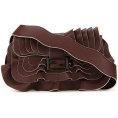 Fendi 'Baguette' shoulder bag ($4,550) ❤ liked on Polyvore featuring bags, handbags, shoulder bags, red, fendi handbags, brown purse, shoulder handbags, brown shoulder bag and fendi purse