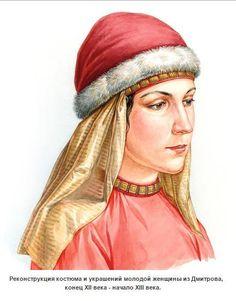 Подборка рисунков на тему древнерусского женского ювелирного головного убора A selection of drawings on the theme of ancient women's jewelry headdress