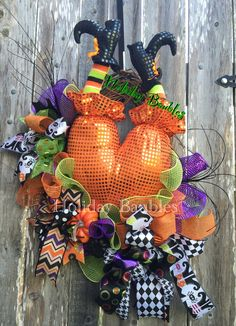 "26"" Witch Wreath #homedecor #halloween #wreaths #holidaybaubles"