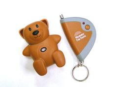 Mommy I'm Here Child Locator (Brown) $19.90-$79.90. If you lose sight of your child, press the key chain transmitter and the teddy will chirp. The teddy bear receiver delivers a loud 90db intermittent chirp/beeping sound that functions from the key chain transmitter. The child locator comes with long life batteries already installed and is immediately ready for use.  The teddy bear shaped receiver is water resistant.  #mommyimhere #theplanettraveller