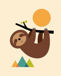 sloth mask template - printable sloth craft crafts