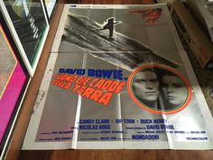 David Bowie The Man Who Fell To Earth Rare Original Vintage 1976 Italian Silkscreened Giant Poster by RockPostersTreasures on Etsy