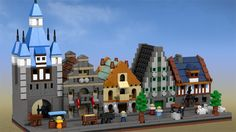 Medieval Micro Modulars - a LEGO IDEAS project with small yet detailed medieval buildings!