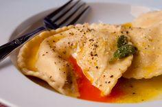 jamie oliver egg ravioli {recipe}