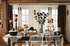 Elegant Halloween table / Ideas para una mesa elegante para Halloween
