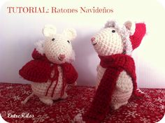 as do mice amigurumi crochet Christmas. Yarn Animals, Knitted Animals, Crochet Patterns Amigurumi, Crochet Dolls, Crochet Mouse, Crochet Handbags, Crochet Projects, Christmas Diy, Crochet Christmas