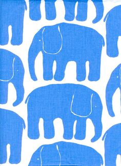 Hey, I found this really awesome Etsy listing at https://www.etsy.com/listing/162980736/fabric-white-blue-retro-elephants-cotton