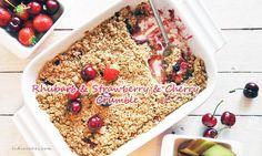 Crumble rhubard and strawberry