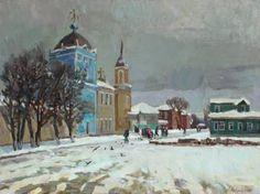 "Saatchi Art Artist Juliya ZHUKOVA; Painting, ""Day of snow"" #art"