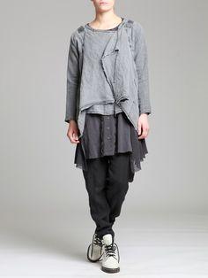 Aged Linen Jacket by LURDES BERGADA