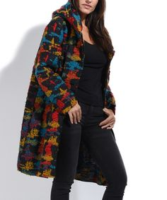 Look at this Charlotte et Louis Black Sarah Wool-Blend Car Coat on #zulily today!