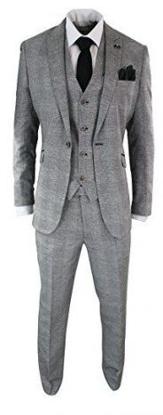 Complete With Blazer, Waistcoat & Trousers, Classic Tailored Fit Retro Style Great For any Formal Occasion, Retro Vintage Inspired Look Tailored Fit (Inbetween slim & regular fit), Many More Styles & Colours Available in Store! Mens Groom Wedding Suits, Vintage Wedding Suits, Best Wedding Suits, Grey Suit Wedding, Groomsmen Grey, Vintage Men, Retro Vintage, Wedding Shit, Wedding Dress