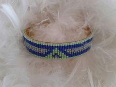 bracelet manchette en laiton couleur fluo : Bracelet par yedura