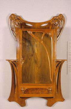Louis Majorelle. Art Nouveau Wall Cabinet