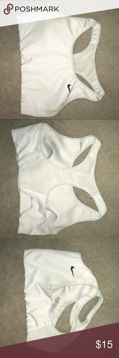 Nike sports bra Nike sports bra with mesh on back - worn 3x in a pageant never been used to work out in Nike Intimates & Sleepwear Bras