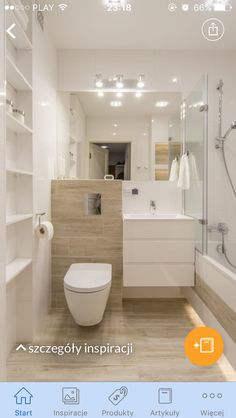 Drewno, imitacja drewna i biel Bathroom Design Luxury, Bathroom Design Small, Modern Bathroom, Bathroom With Shower And Bath, Laundry In Bathroom, Bathroom Goals, Bathroom Layout, Compact Bathroom, Bathroom Renos