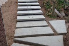 Floating Entrance Steps - Construction Photograph