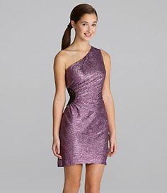 Hailey Logan One-Shoulder Metallic Dress | Dillard's Mobile