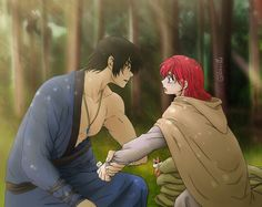 Hak e Yona (Akatsuki no Yona) Yona Akatsuki No Yona, Anime Akatsuki, Manga Art, Anime Manga, Anime Art, Storyboard Drawing, Droopy Eyes, Akagami No Shirayukihime, Anime Love Couple