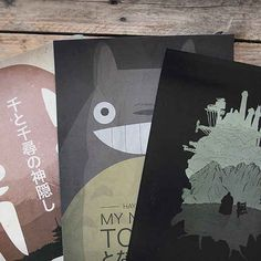 Spirited Away, My Neighbor Totoro, Howl's Moving Castle Minimalist Posters (set of 3) | 17 Must-Have Studio Ghibli Gifts