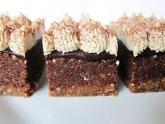 Raw S'mores brownies