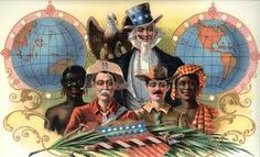 The SPANISH-AMERICAN WAR: The U. victory established new relations for Uncle Sam and a far flung empire from the Philippines in the Pacific to the Caribbean and Central America. The Spanish American War, American Life, American History, American Imperialism, Treaty Of Paris, John Hay, Controversial Topics, Fun World, Military Art