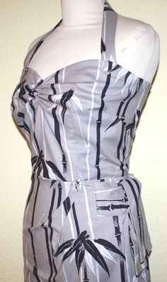 1950s vintage inspired Hawaiian sarong dress grey by OuterLimitz, £75.00