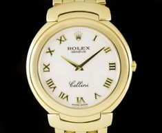 Rolex Cellini Gents 18k Yellow Gold White Roman Dial 6623 Rolex Cellini, Used Rolex, Patek Philippe, Cartier, Gold Watch, Rolex Watches, Roman, Buy And Sell, Luxury