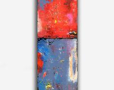 VENTE...Art abstrait peinture sur bois