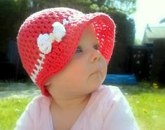 Seamless Bow Sun Bonnet pattern by A la Sascha Adult size availiable too.