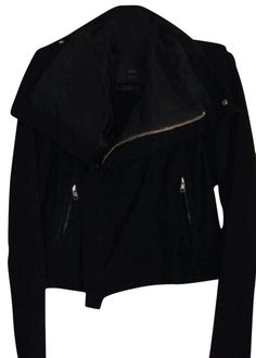 1ac50ab8 VEDA Black Classic Max Suede Biker Jacket Size 4 (S). Free shipping and.  Tradesy