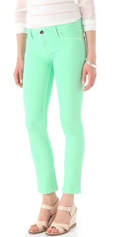 colored skinny jeans