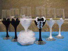 wedding glasses by Ginartizanat on Etsy