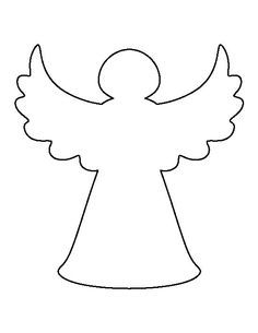 Use the printable outline for crafts, creating ste. Christmas Angel Crafts, Christmas Tree Template, Christmas Stencils, Preschool Christmas, Free Christmas Printables, Christmas Fairy, Felt Christmas, Simple Christmas, Christmas Decorations